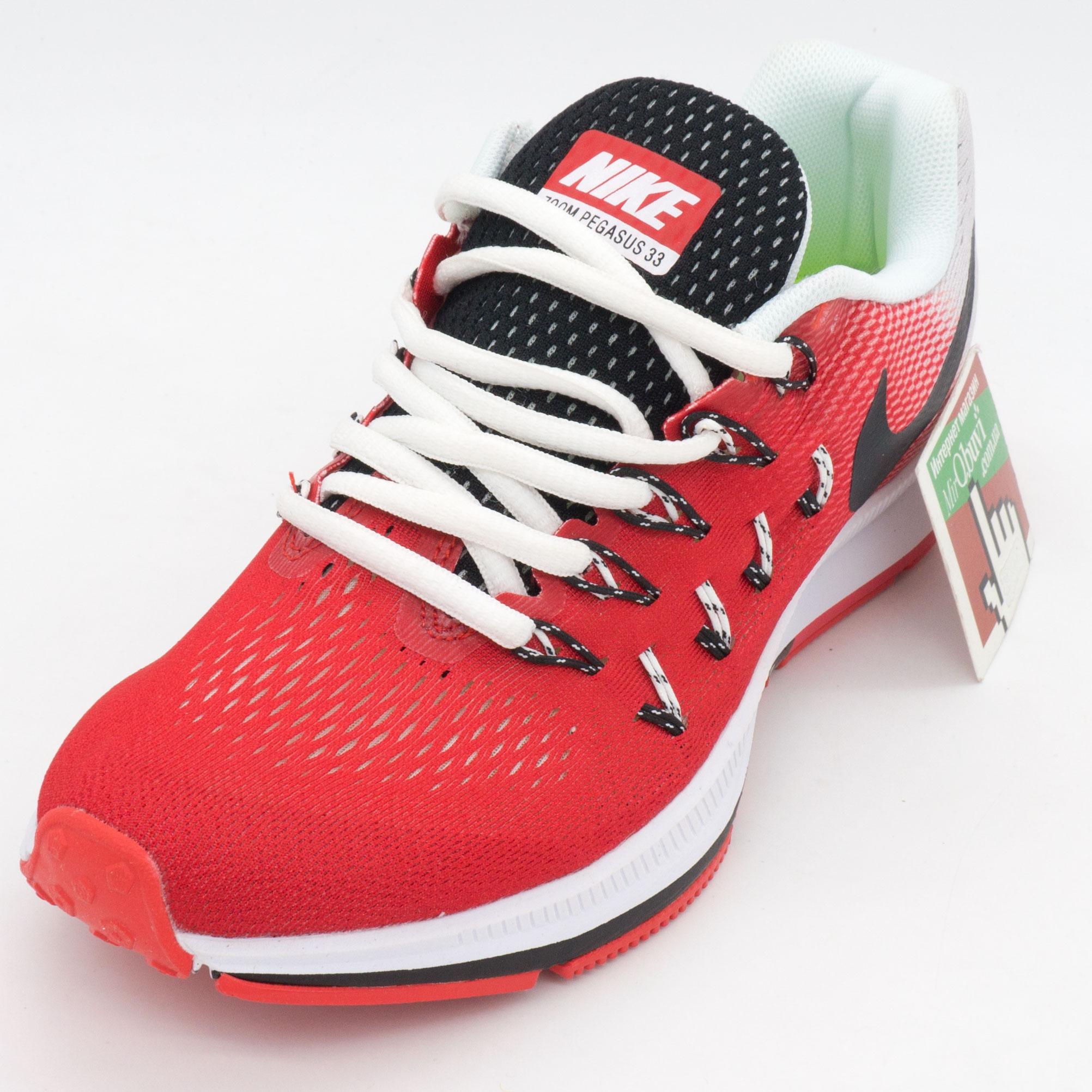 фото front Женские кроссовки для бега Nike Zoom Pegasus 33 красные. Топ качество! front