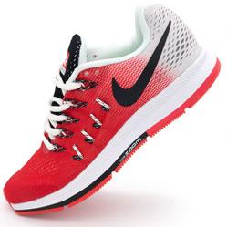 Женские кроссовки для бега Nike Zoom Pegasus 33 красные. Топ качество!