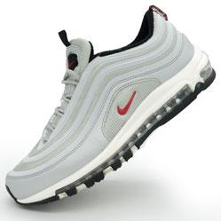 Мужские кроссовки Nike air max 97 серебристые