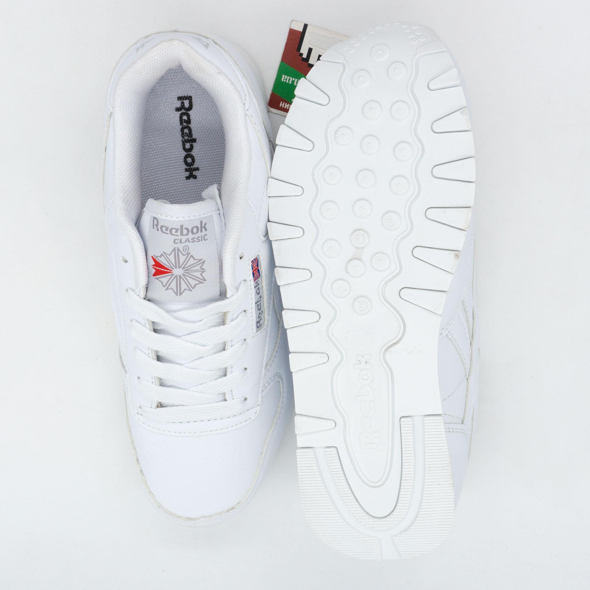 фото bottom Белые женские кроссовки Reebok classic bottom