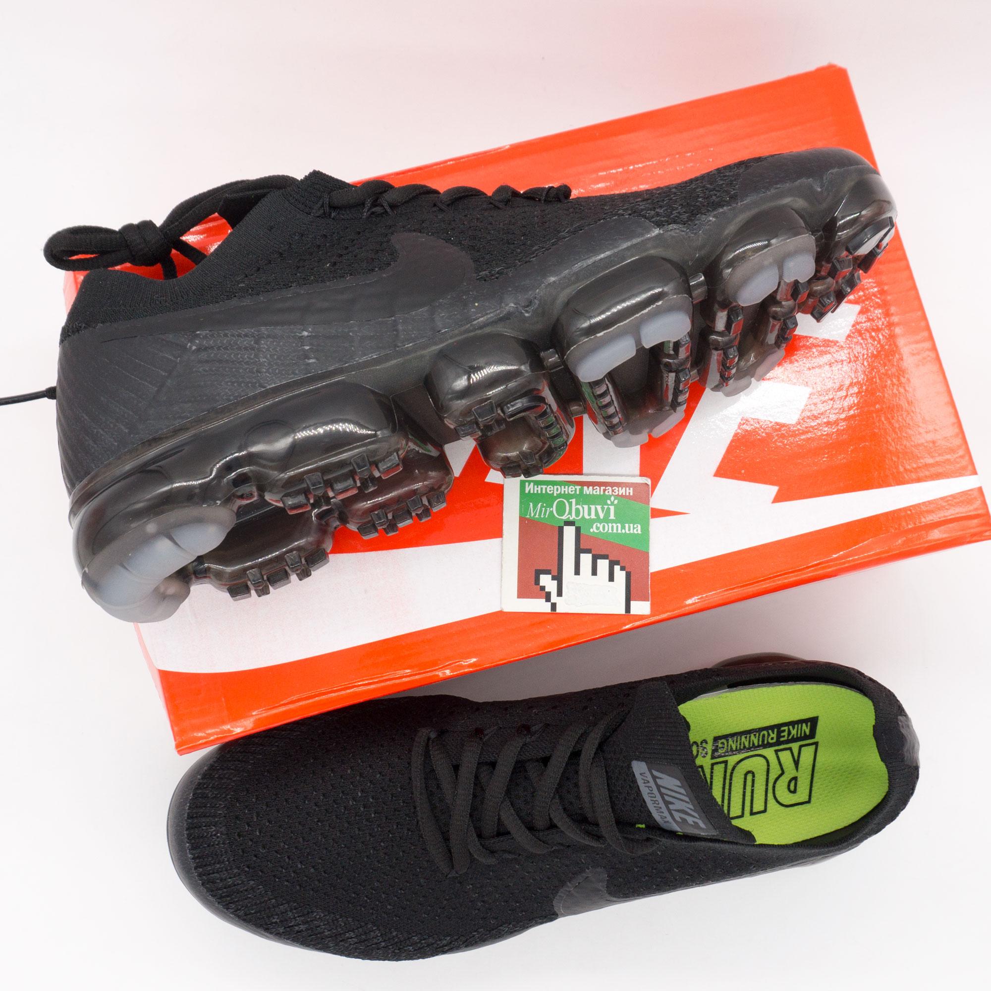 фото back Мужские кроссовки для бега Nike Air VaporMax полностью черные back