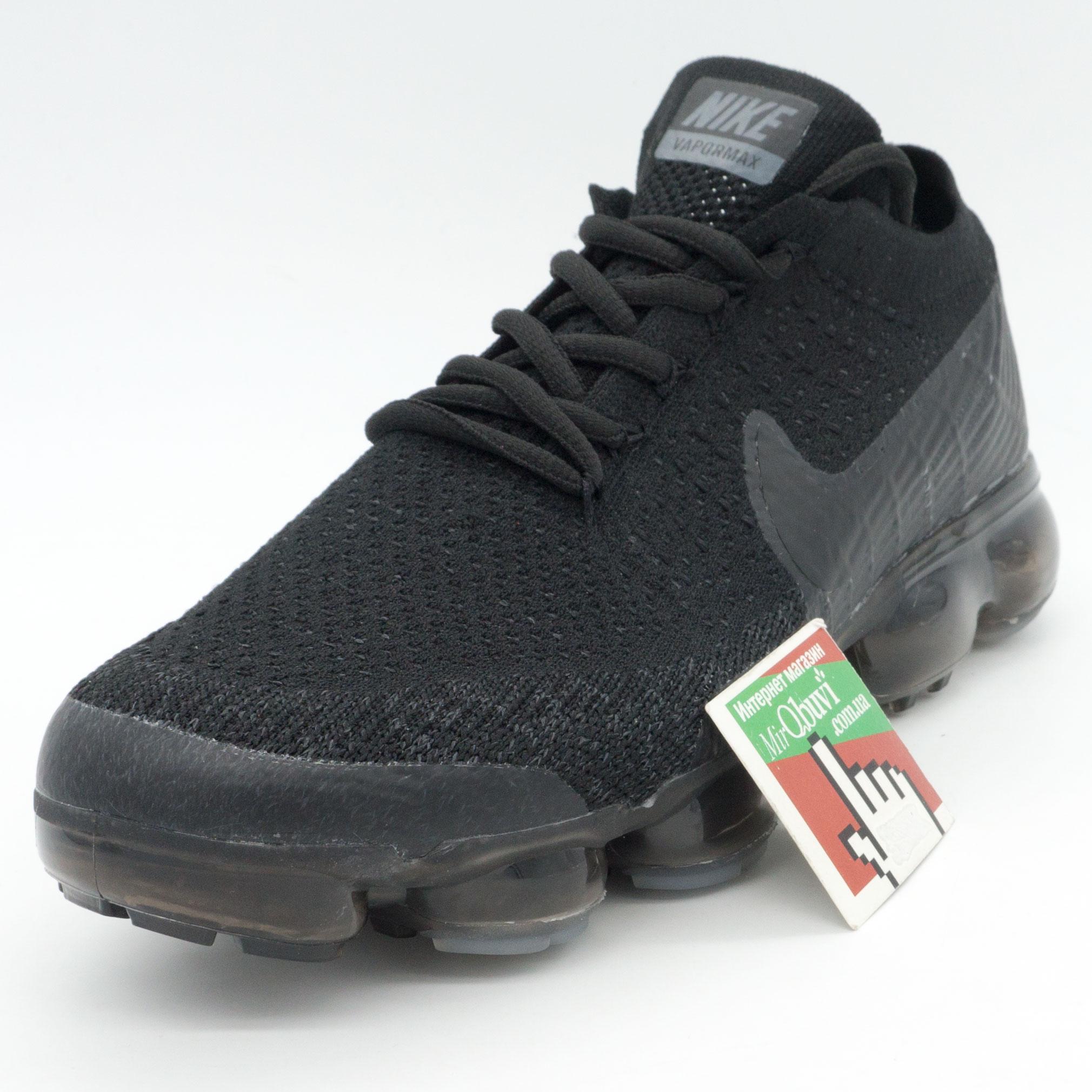 фото front Мужские кроссовки для бега Nike Air VaporMax полностью черные front