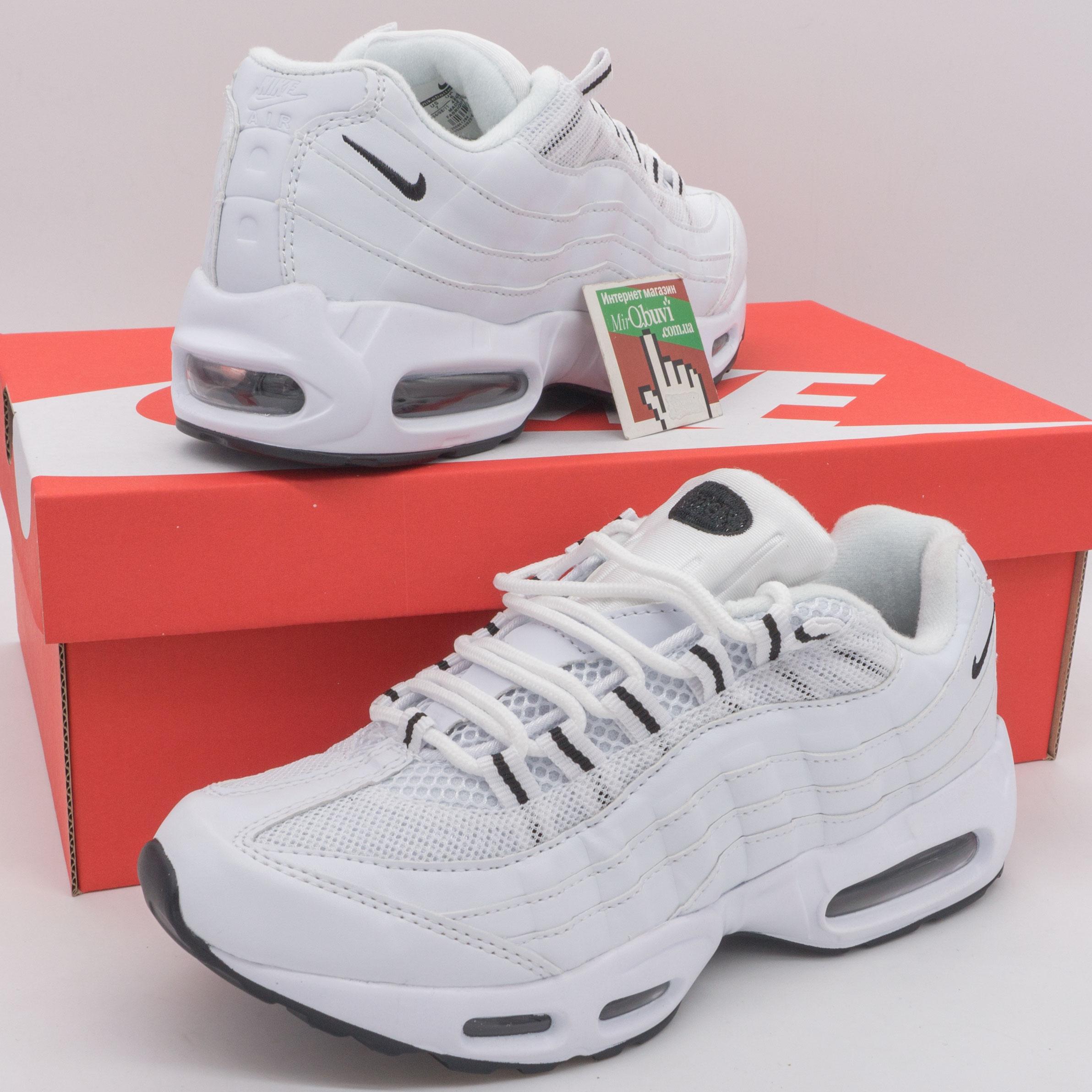 фото back Кроссовки Nike air max 95 полностью белые back