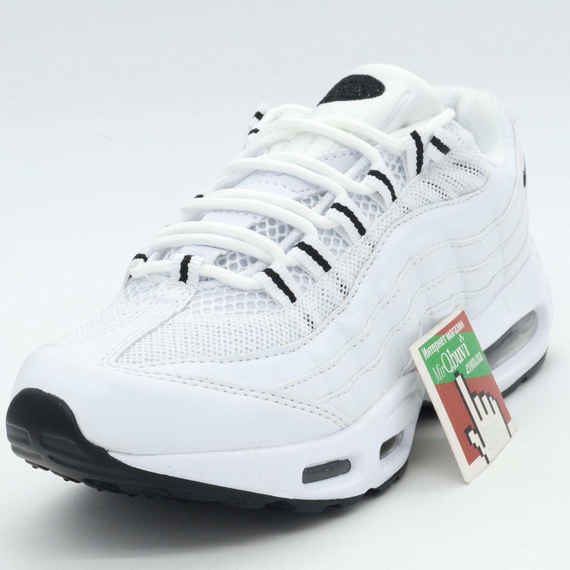 фото front Кроссовки Nike air max 95 полностью белые front