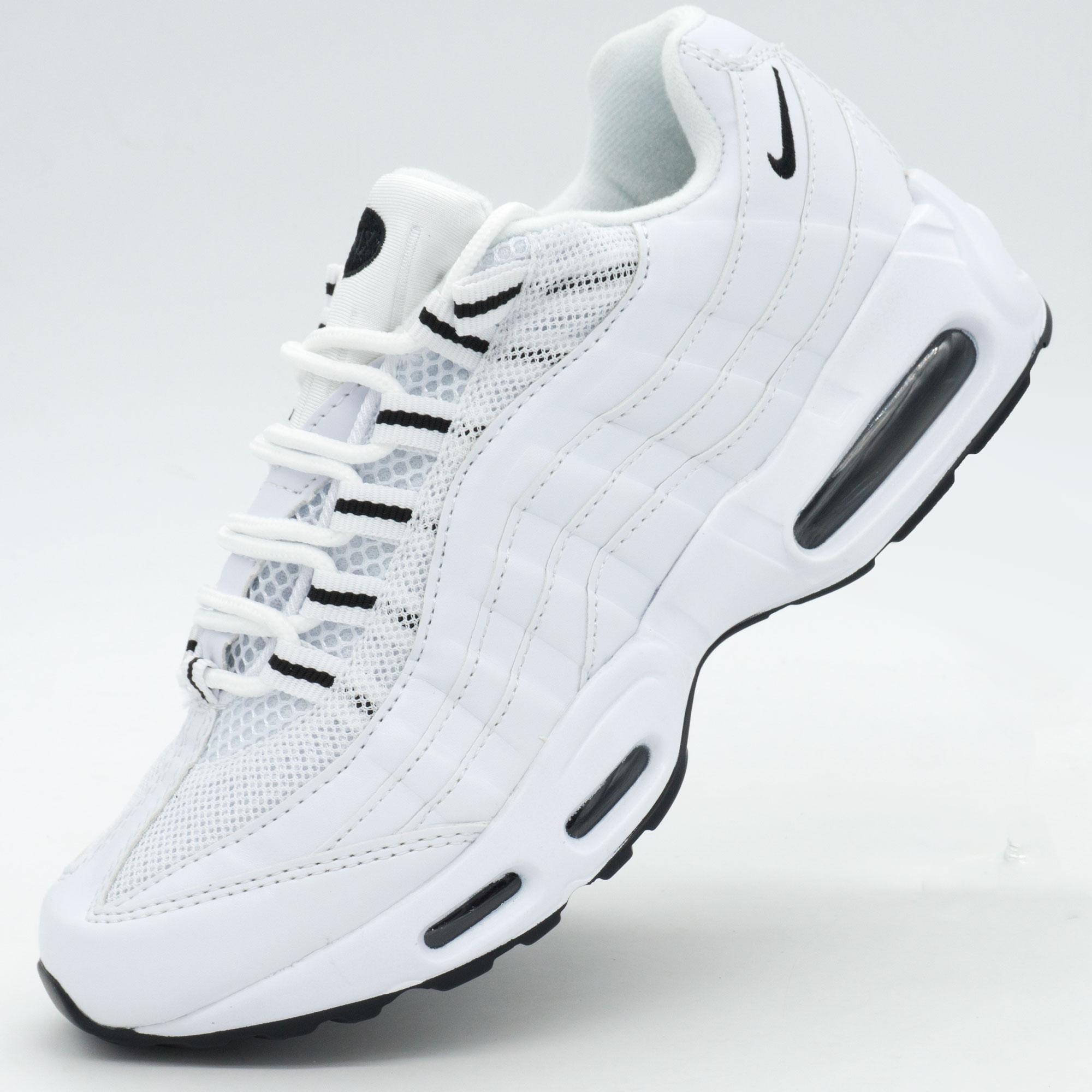 фото main Кроссовки Nike air max 95 полностью белые main