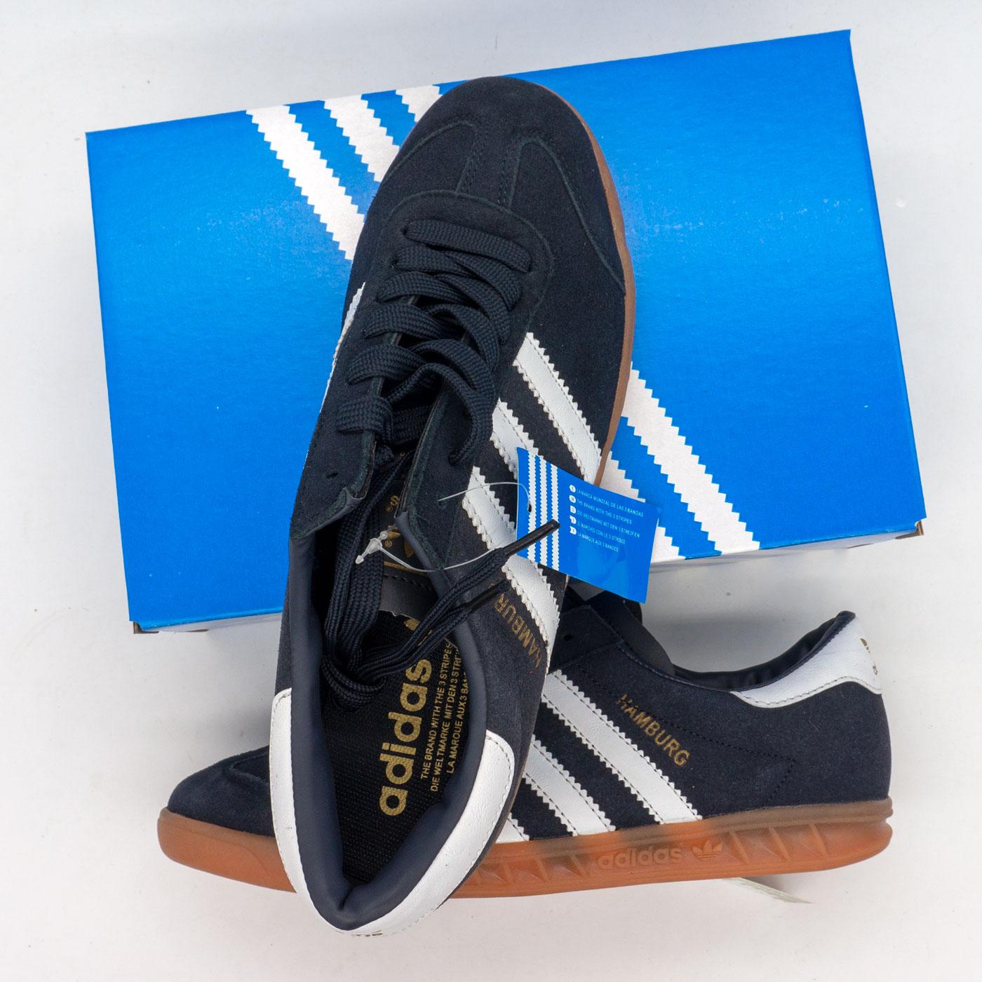фото back Кроссовки Adidas Hamburg темно синие - Натуральная замша - Топ качество! back