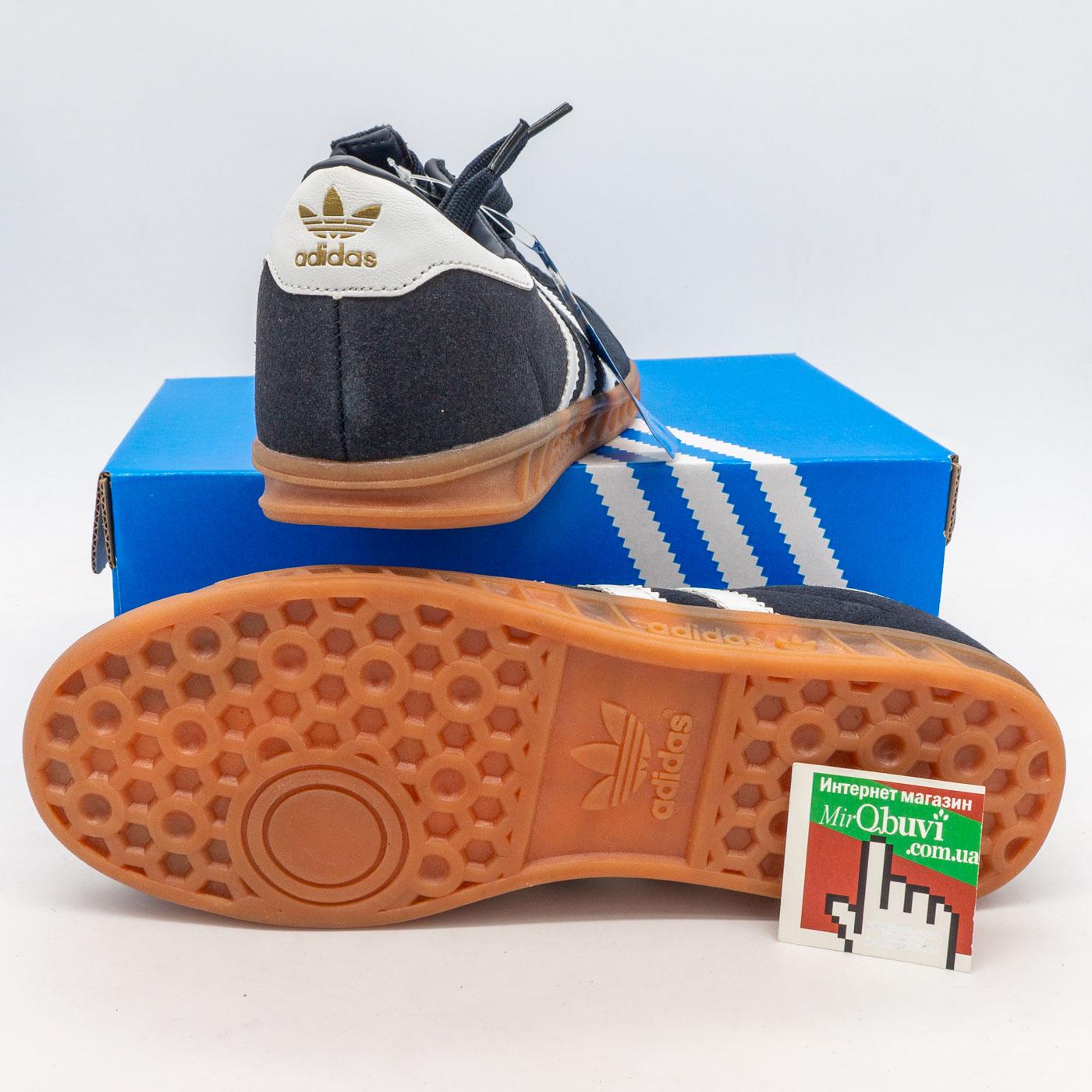 фото front Кроссовки Adidas Hamburg темно синие - Натуральная замша - Топ качество! front