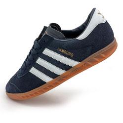 Кроссовки Adidas Hamburg темно синие - Натуральная замша - Топ качество!