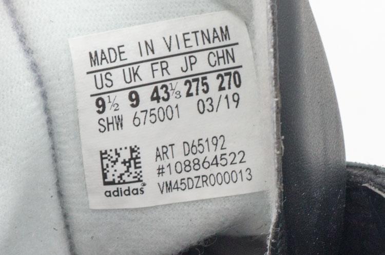 большое фото №6 Кроссовки Adidas Hamburg черные с коричневой подошвой Vietnam