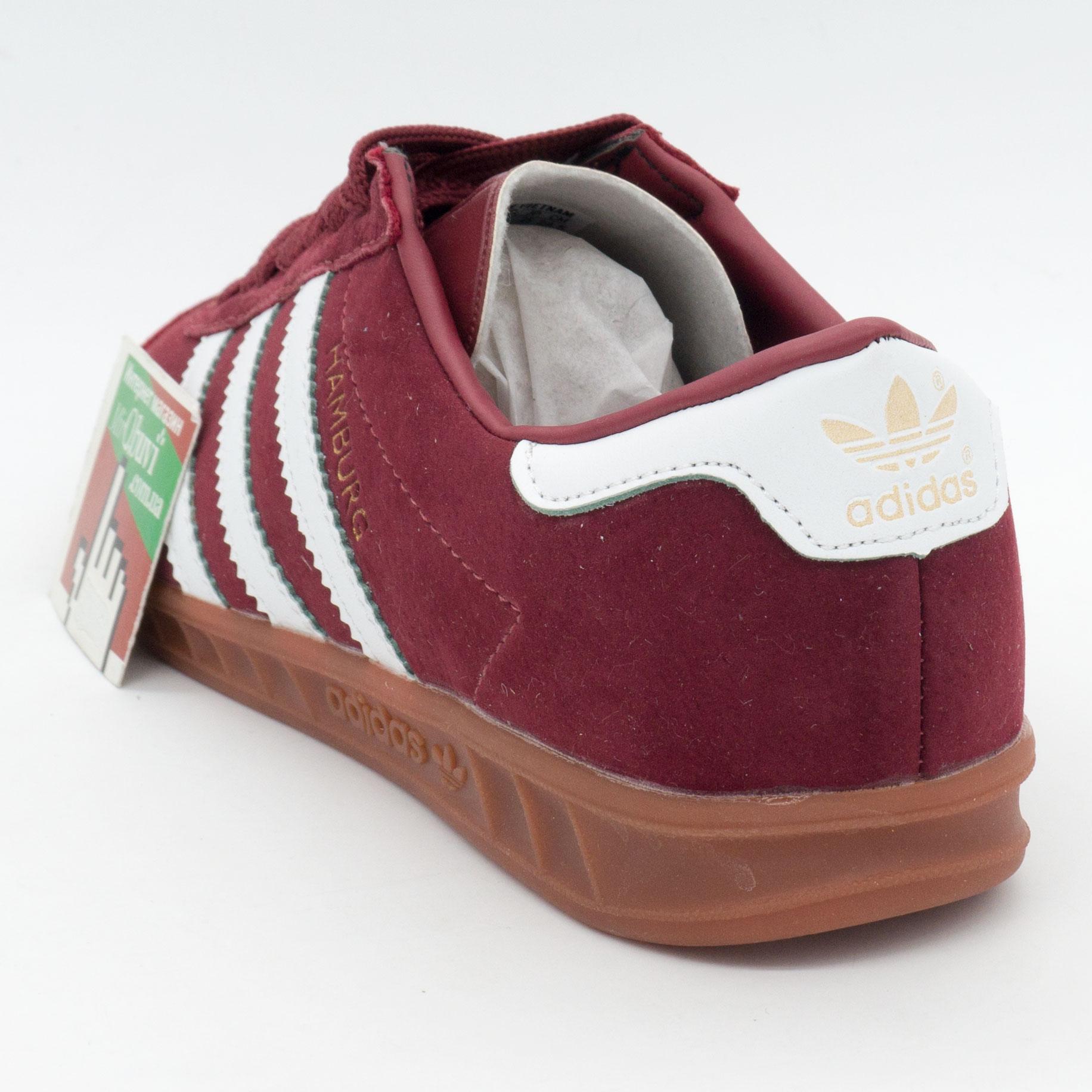 фото back Бордовые женские кроссовки Adidas Hamburg - Vietnam back
