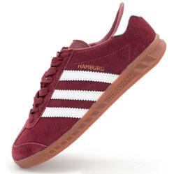 Бордовые женские кроссовки Adidas Hamburg - Vietnam