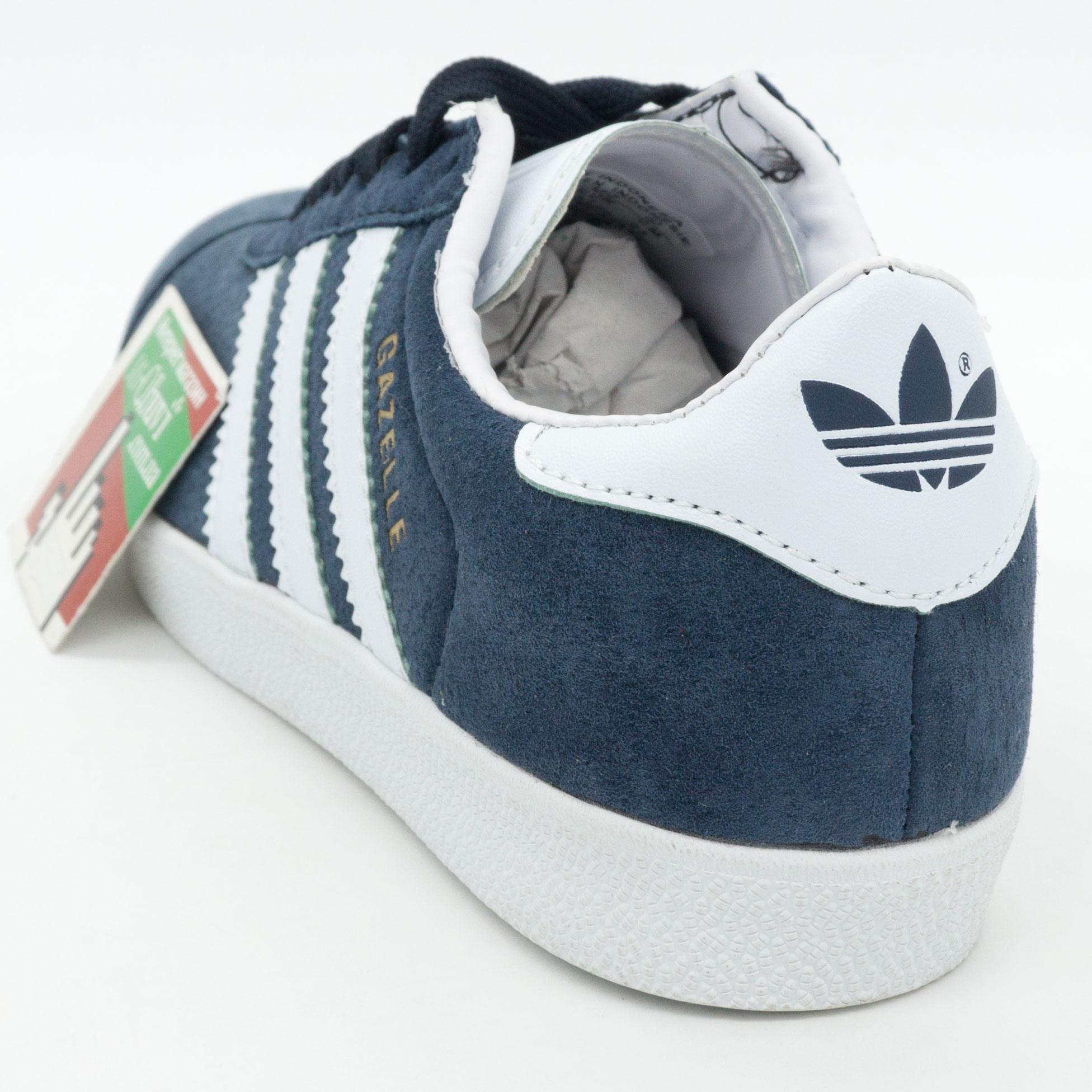 фото back Синие кроссовки Adidas Gazelle нтуральная замша Indonesia back