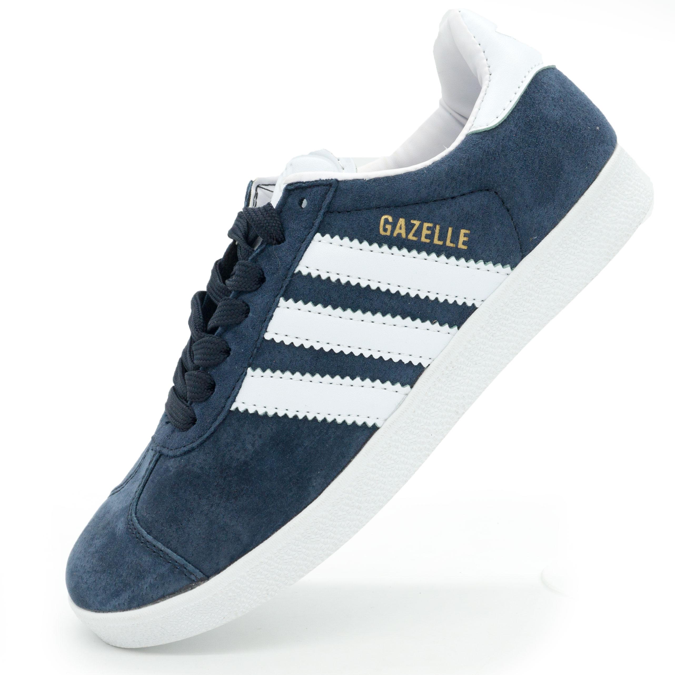 фото main Синие кроссовки Adidas Gazelle нтуральная замша Indonesia main