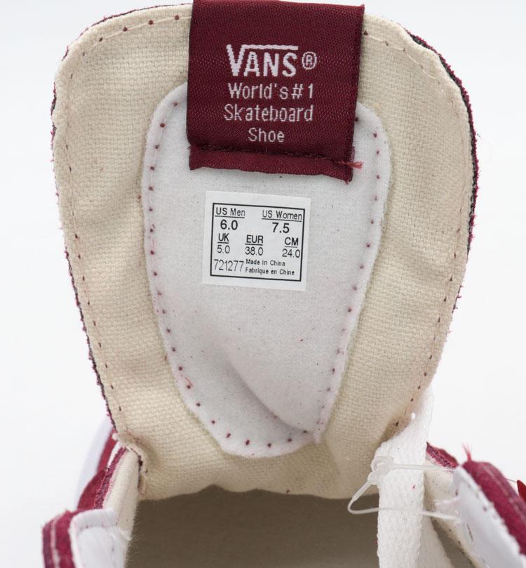 большое фото №6 Высокие кеды Vans old skool - бордовые, натуральная замша. Топ качество!