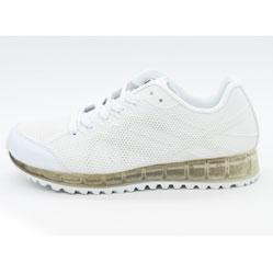 Белые светящиеся кроссовки LED с прозрачной подошвой