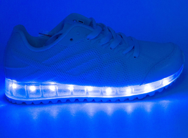 большое фото №6 Белые светящиеся кроссовки с прозрачной подошвой