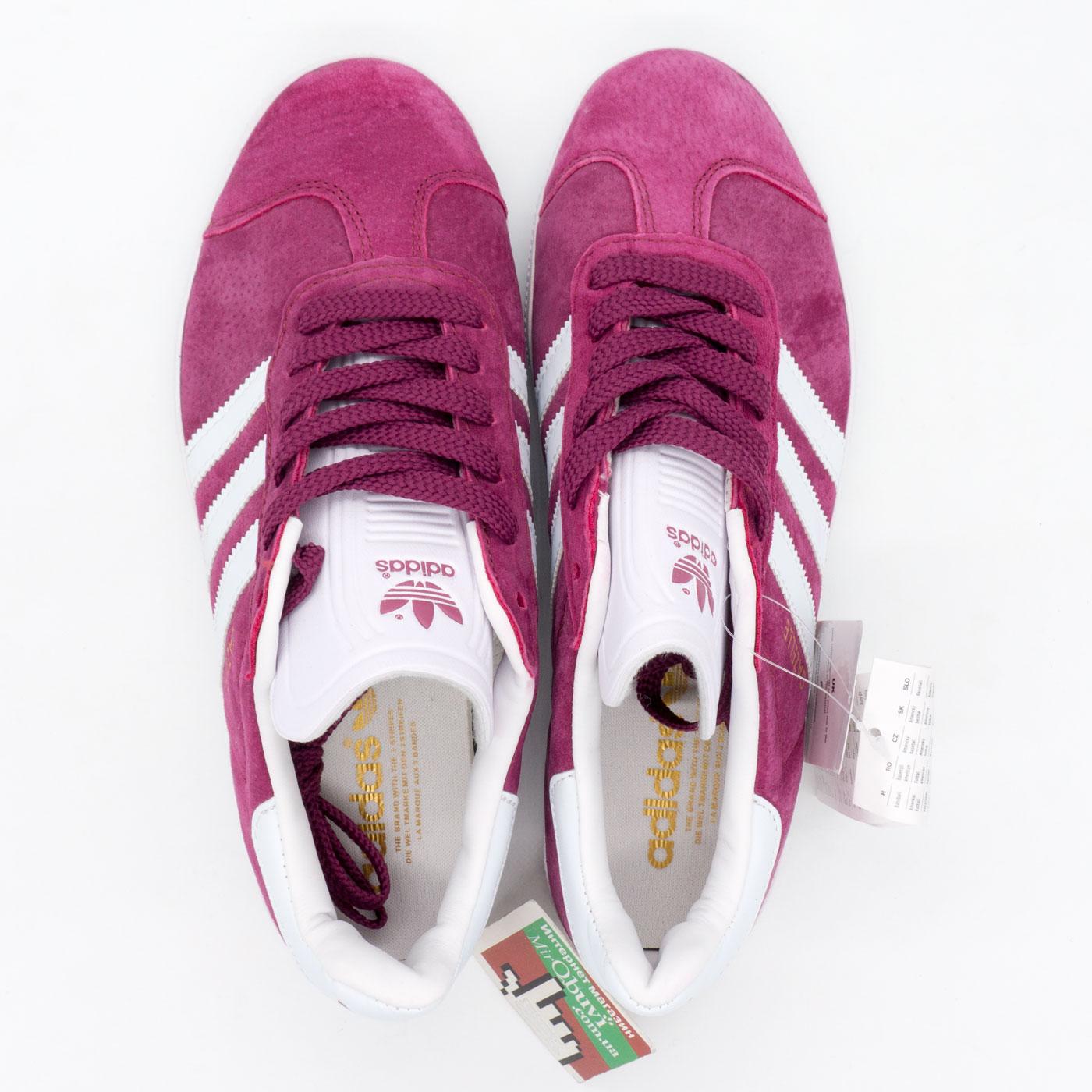 фото back Бордовые кроссовки Adidas Gazelle натуральная замша,  Vietnam - Топ качество! back