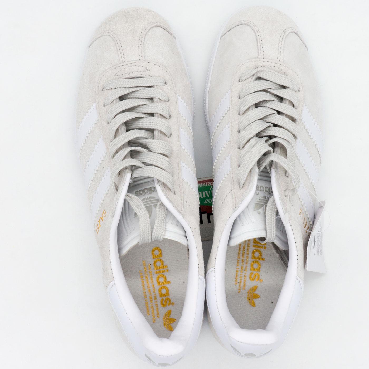 фото bottom Светло серые кроссовки Adidas Gazelle натуральная замша,  Vietnam - Топ качество! bottom