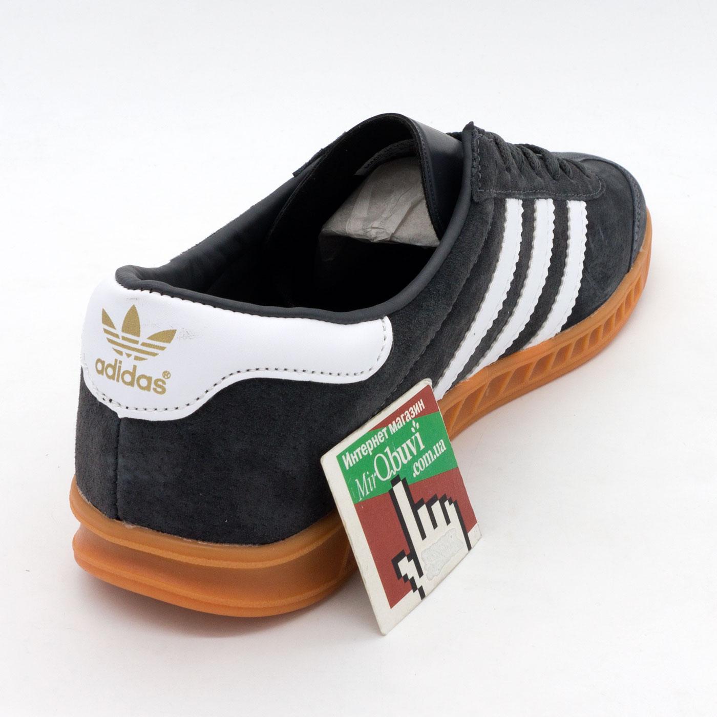 фото back Темно серые мужские кроссовки Adidas Hamburg back