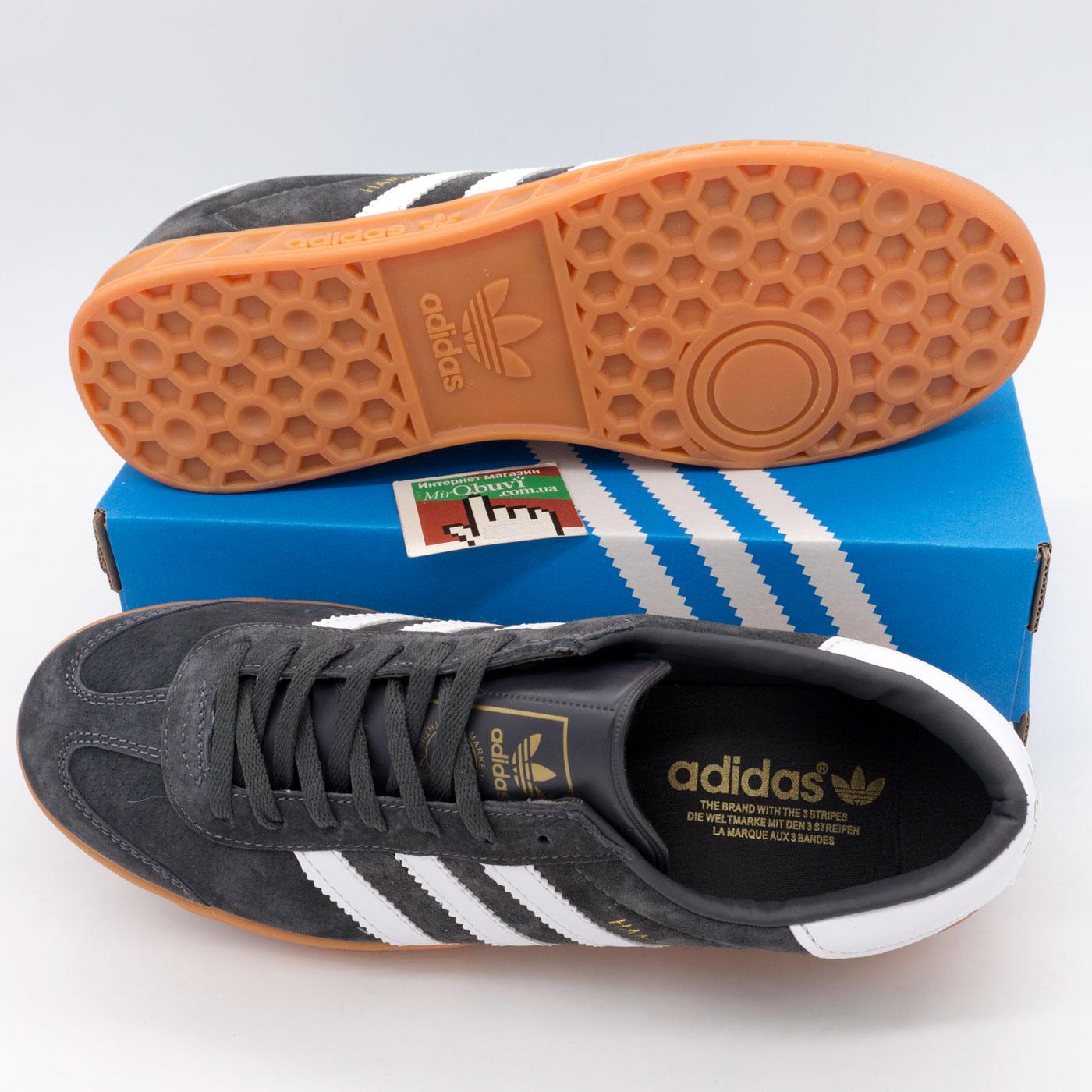 фото bottom Темно серые мужские кроссовки Adidas Hamburg bottom
