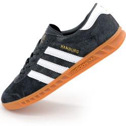 Бордовые женские кроссовки Adidas Hamburg , с белой подошвой