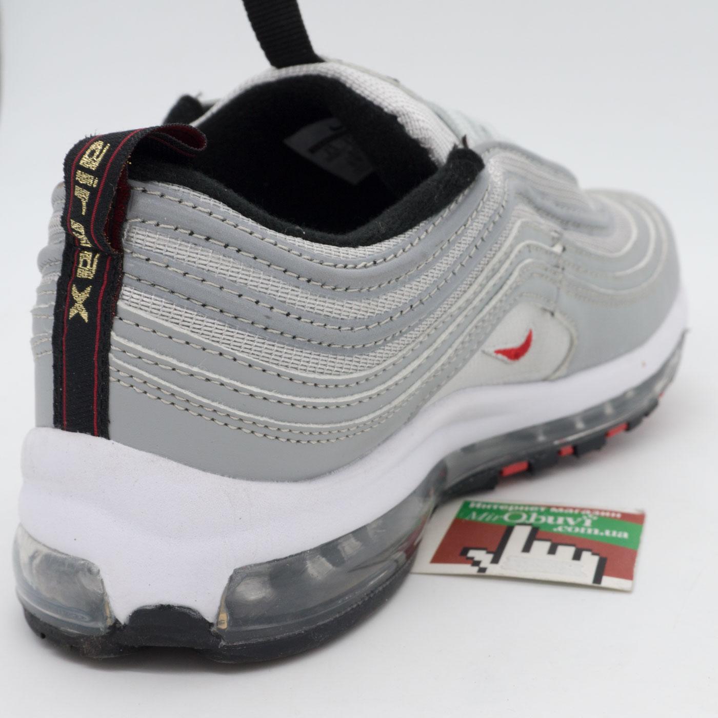 фото back Мужские и женские кроссовки Nike air max 97 серебристые Vietnam back