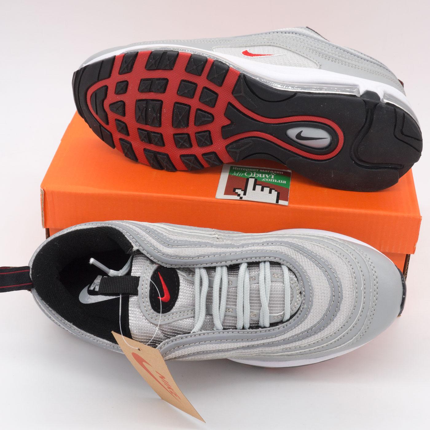 фото bottom Мужские и женские кроссовки Nike air max 97 серебристые Vietnam bottom