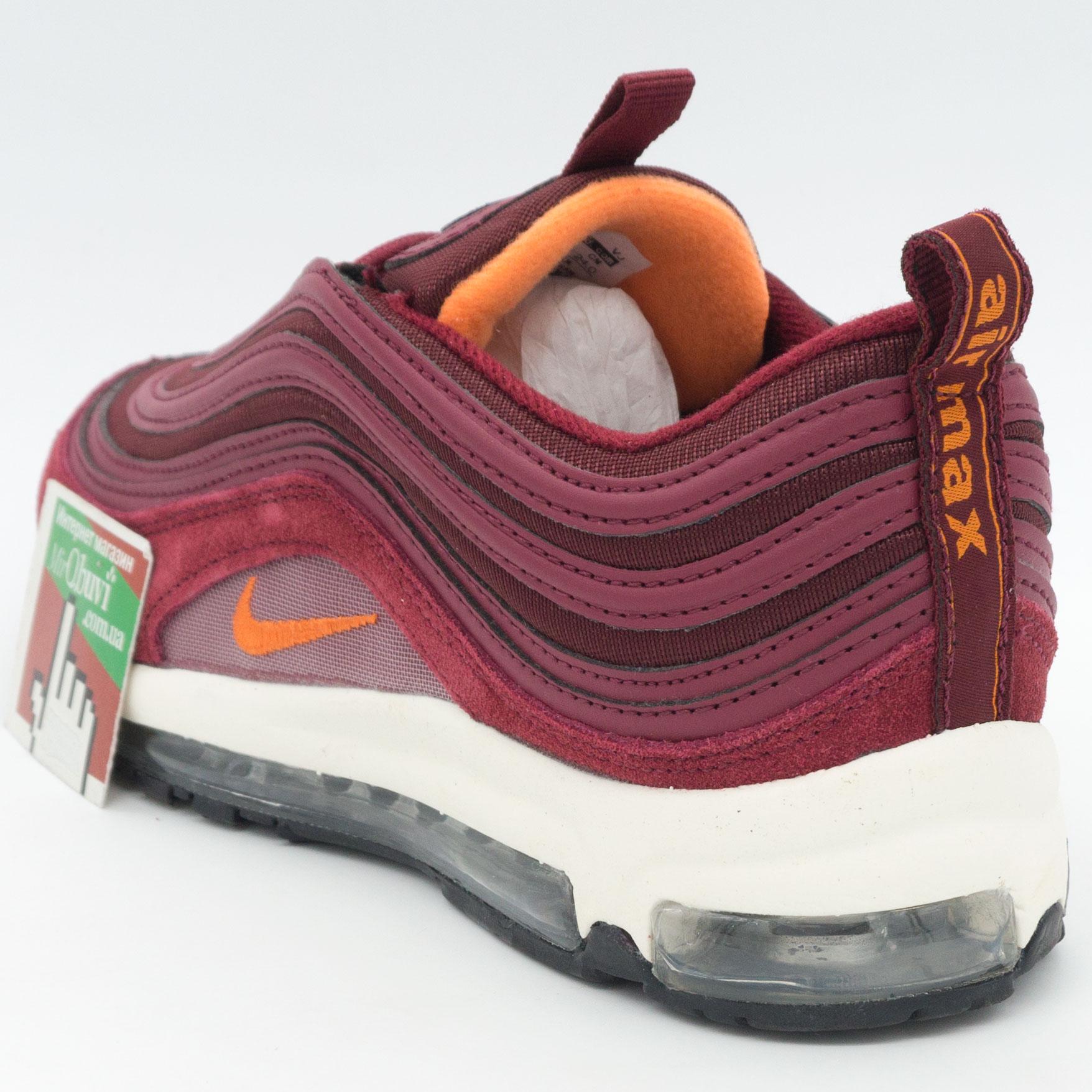 фото back Женские бордовые кроссовки Nike air max 97 Vietnam back