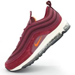 Женские бордовые кроссовки Nike air max 97 Vietnam