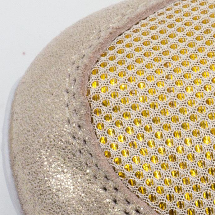 большое фото №5 Женские золотистые кроссовки Reebok classic leather