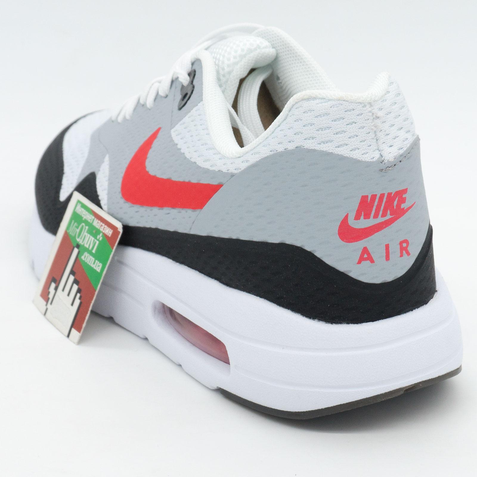 фото back Мужские кроссовки Nike air max Ultra Flyknit серые с красным back