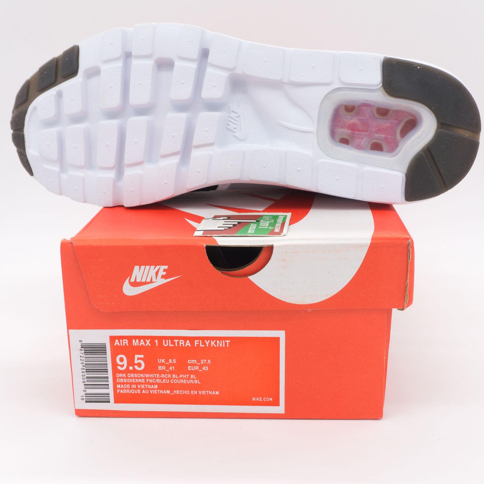 фото bottom Мужские кроссовки Nike air max Ultra Flyknit серые с красным bottom