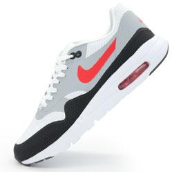 Мужские кроссовки Nike air max Ultra Flyknit серые с красным