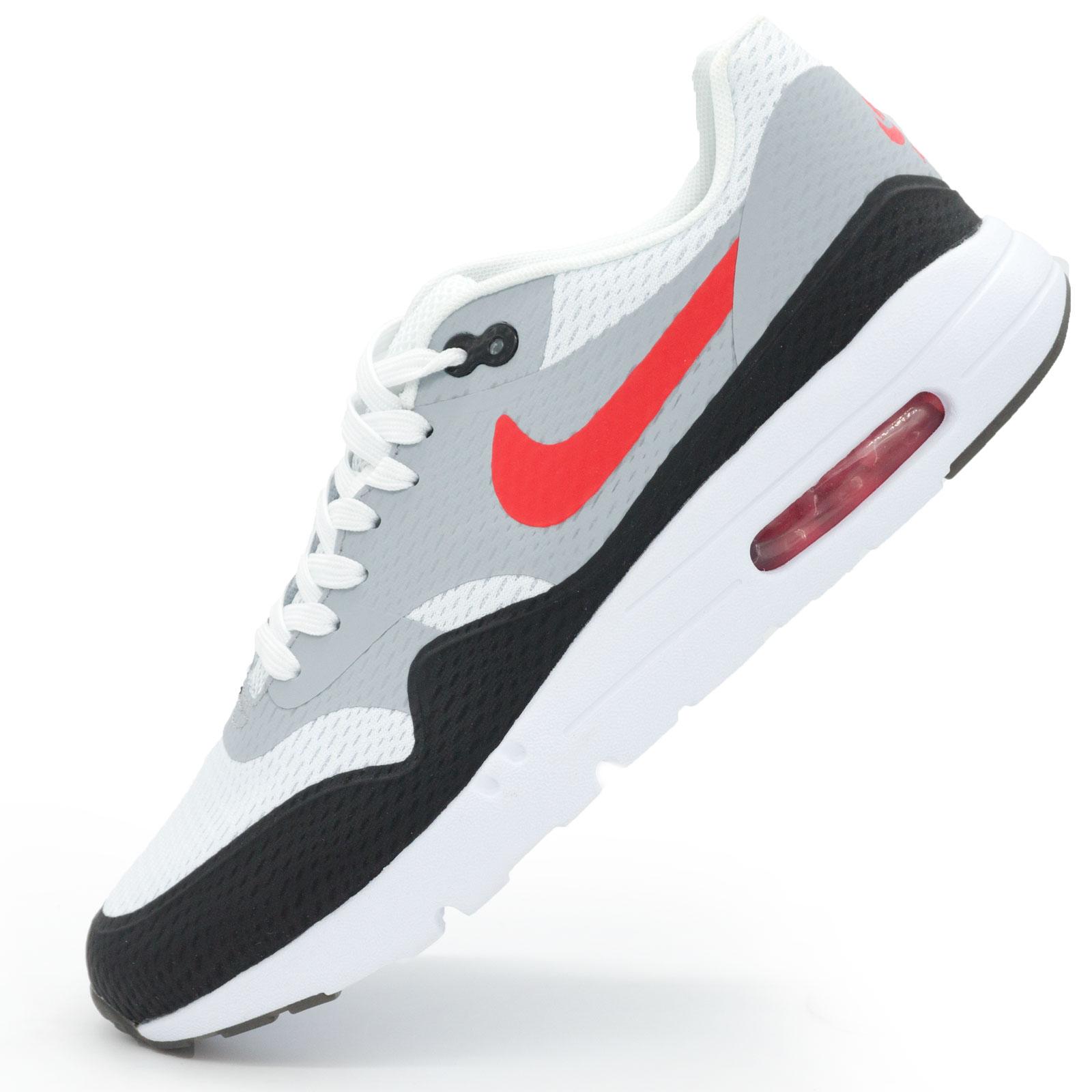 фото main Мужские кроссовки Nike air max Ultra Flyknit серые с красным main