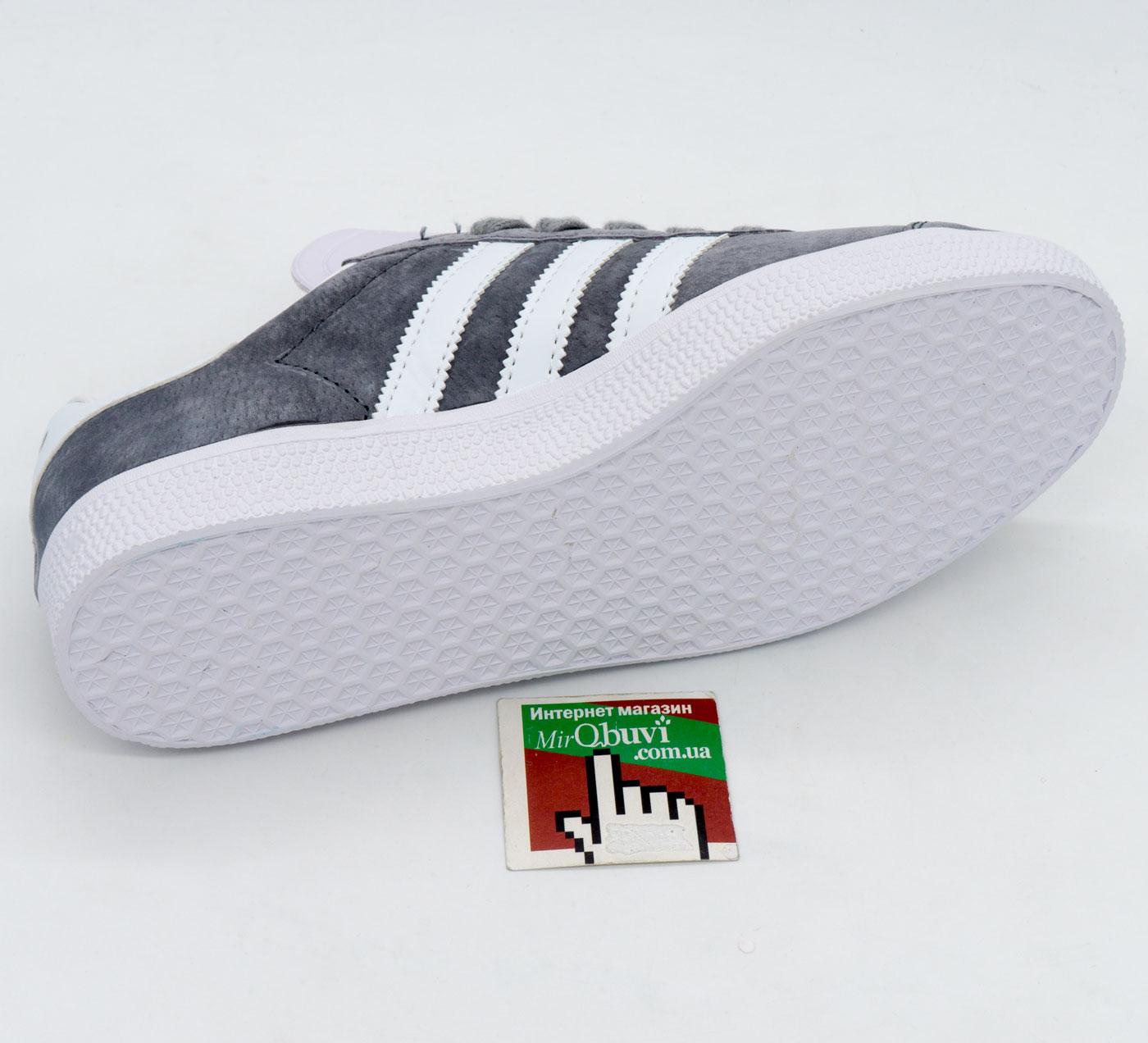 фото back Серые кроссовки Adidas Gazelle натуральная замша, Vietnam - Топ качество! back