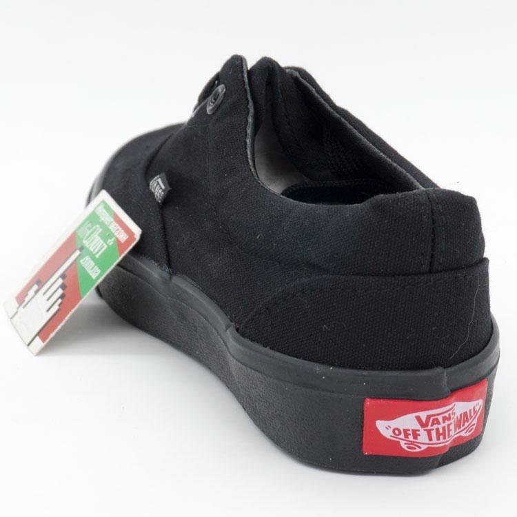 фото front Кеды Vans Classic lace полностью черные. front