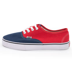Кеды Vans Classic lace сине-красные.
