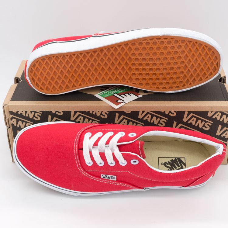 фото back Кеды Vans Classic lace красные. back