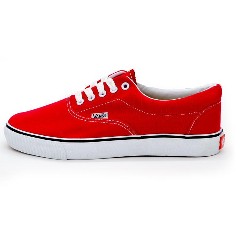 фото main Кеды Vans Classic lace красные. main
