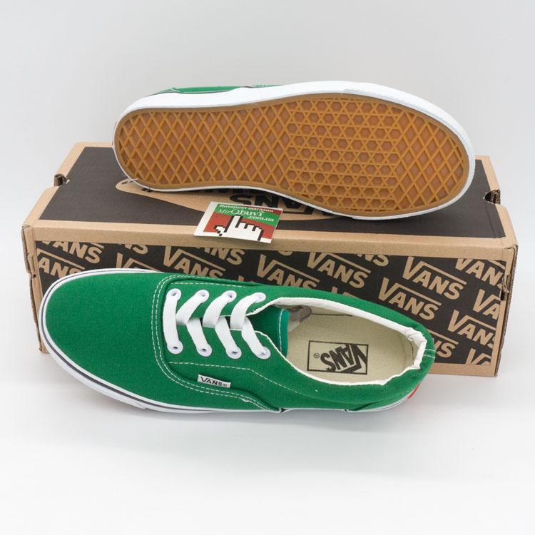 фото back Кеды Vans Classic lace зеленые. back