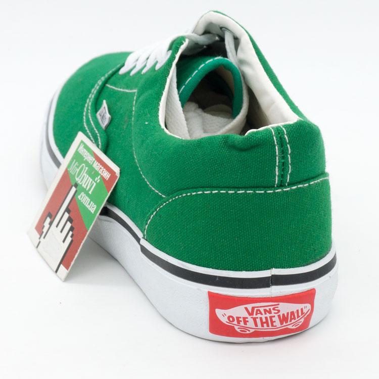 фото front Кеды Vans Classic lace зеленые. front