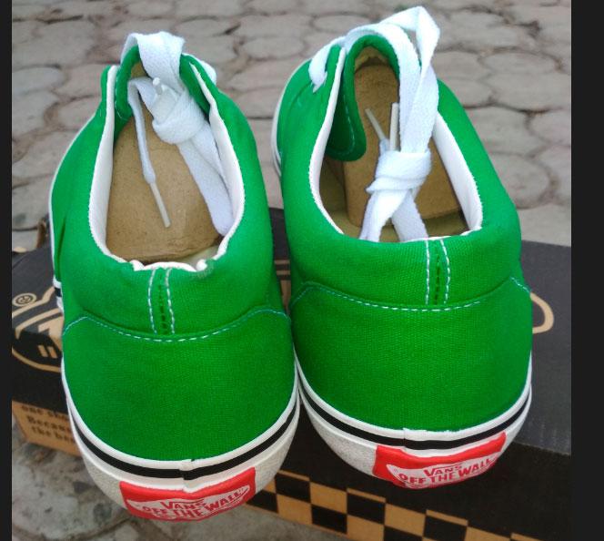 большое фото №6 Кеды Vans Classic lace зеленые.