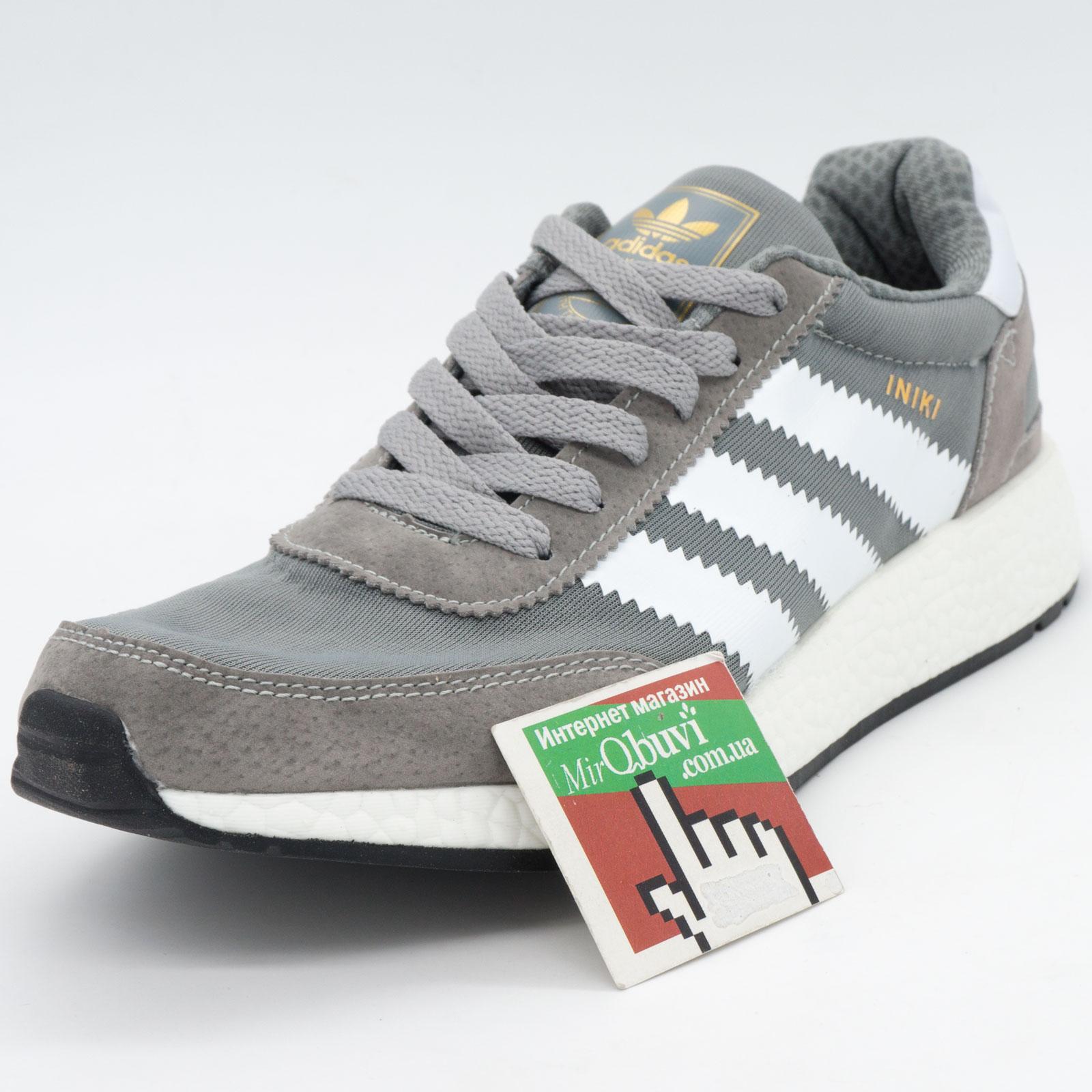 фото front Кроссовки для бега Adidas Iniki Runner светло серые front
