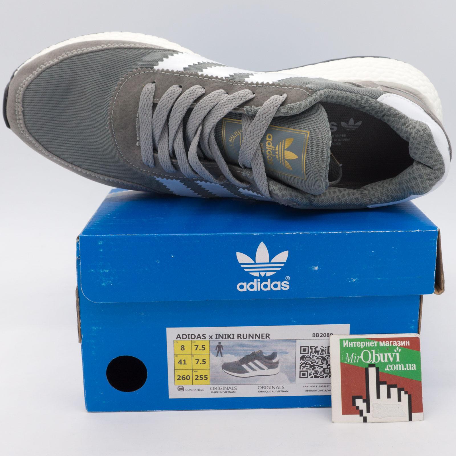 большое фото №6 Кроссовки для бега Adidas Iniki Runner светло серые