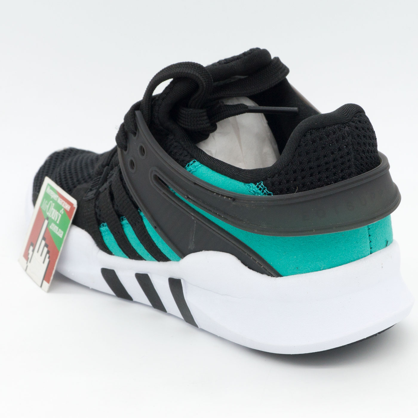 фото back Кроссовки Adidas Equipment support (EQT) черные с зеленым back