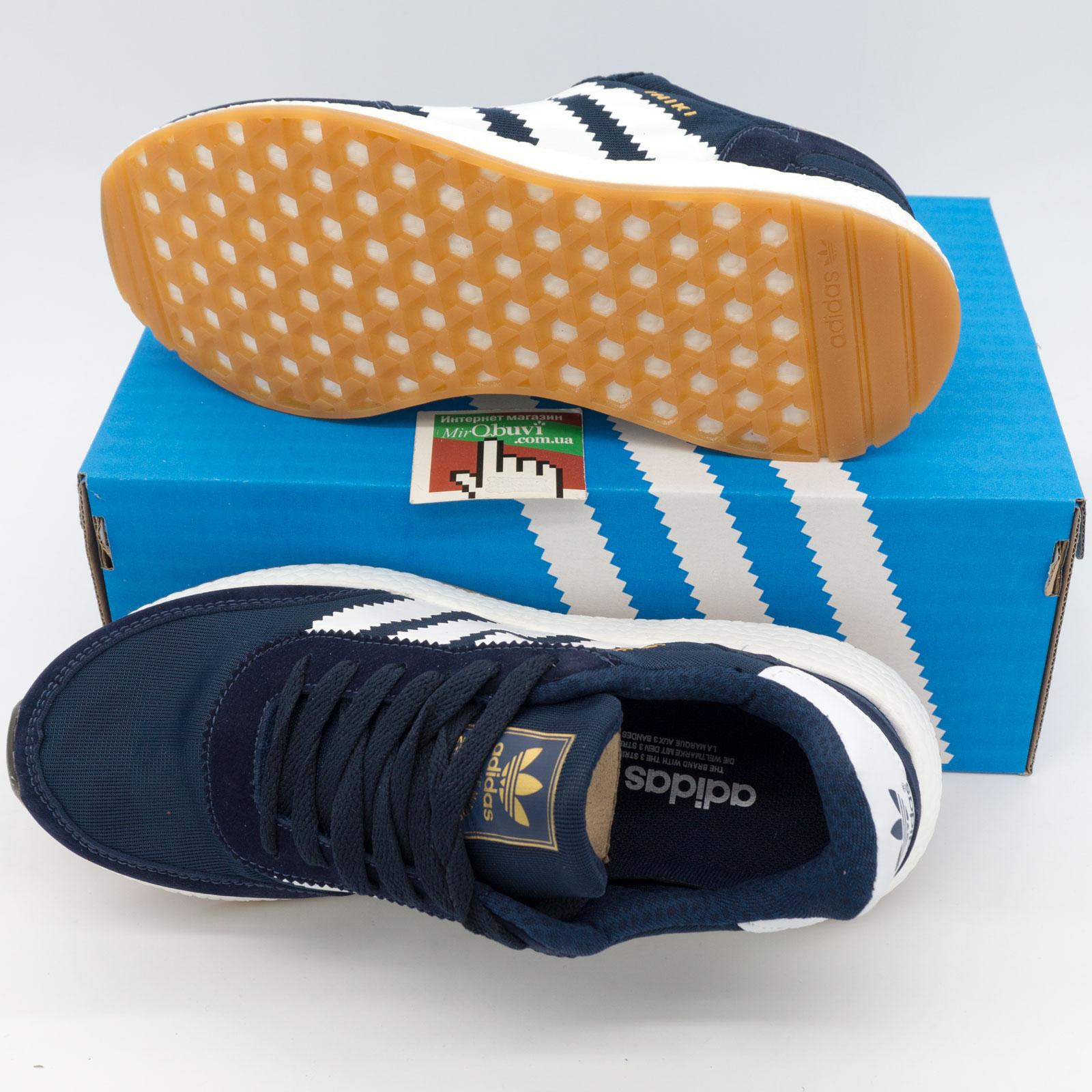 фото back Кроссовки для бега Adidas Iniki Runner синие с белым №2 back