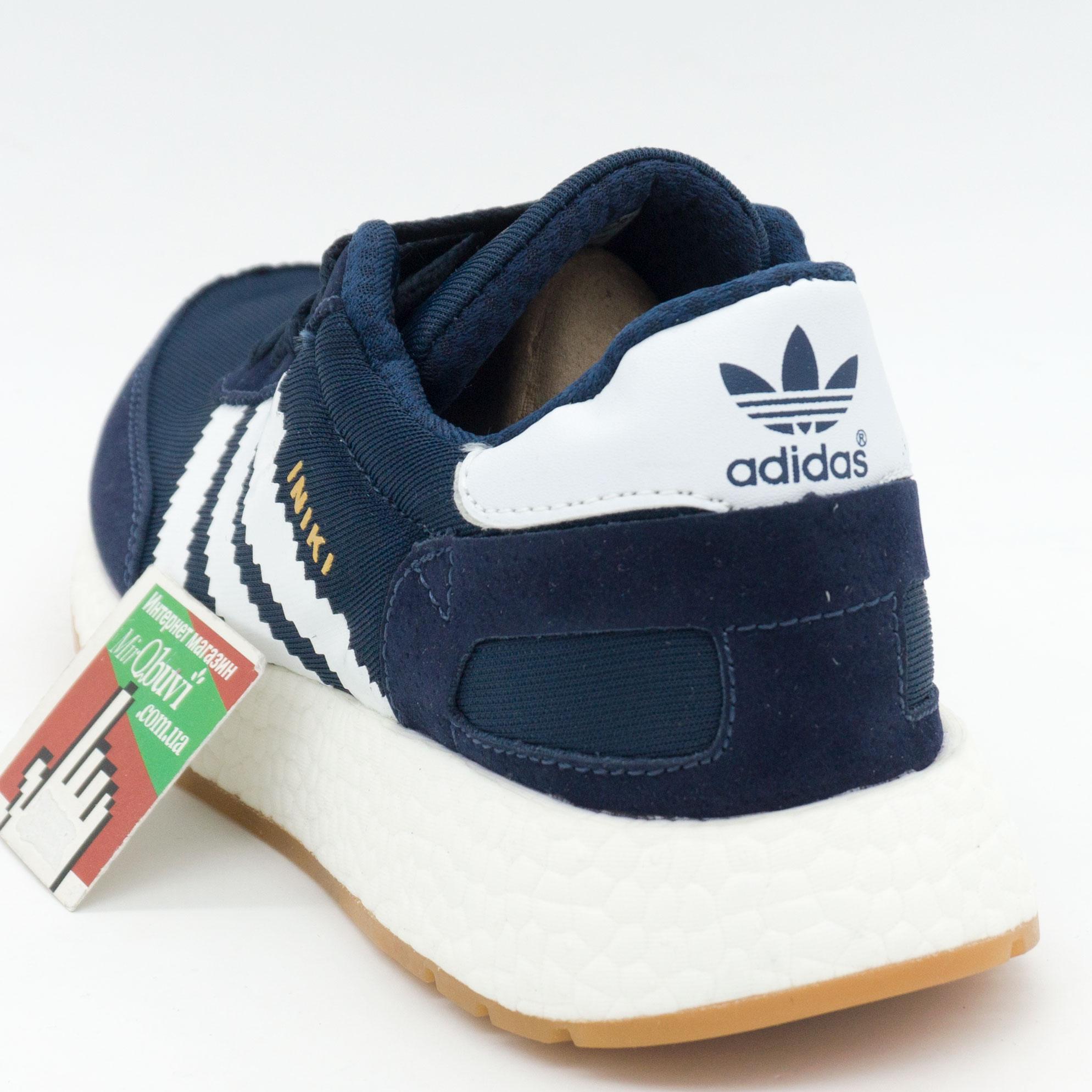 фото bottom Кроссовки для бега Adidas Iniki Runner синие с белым №2 bottom