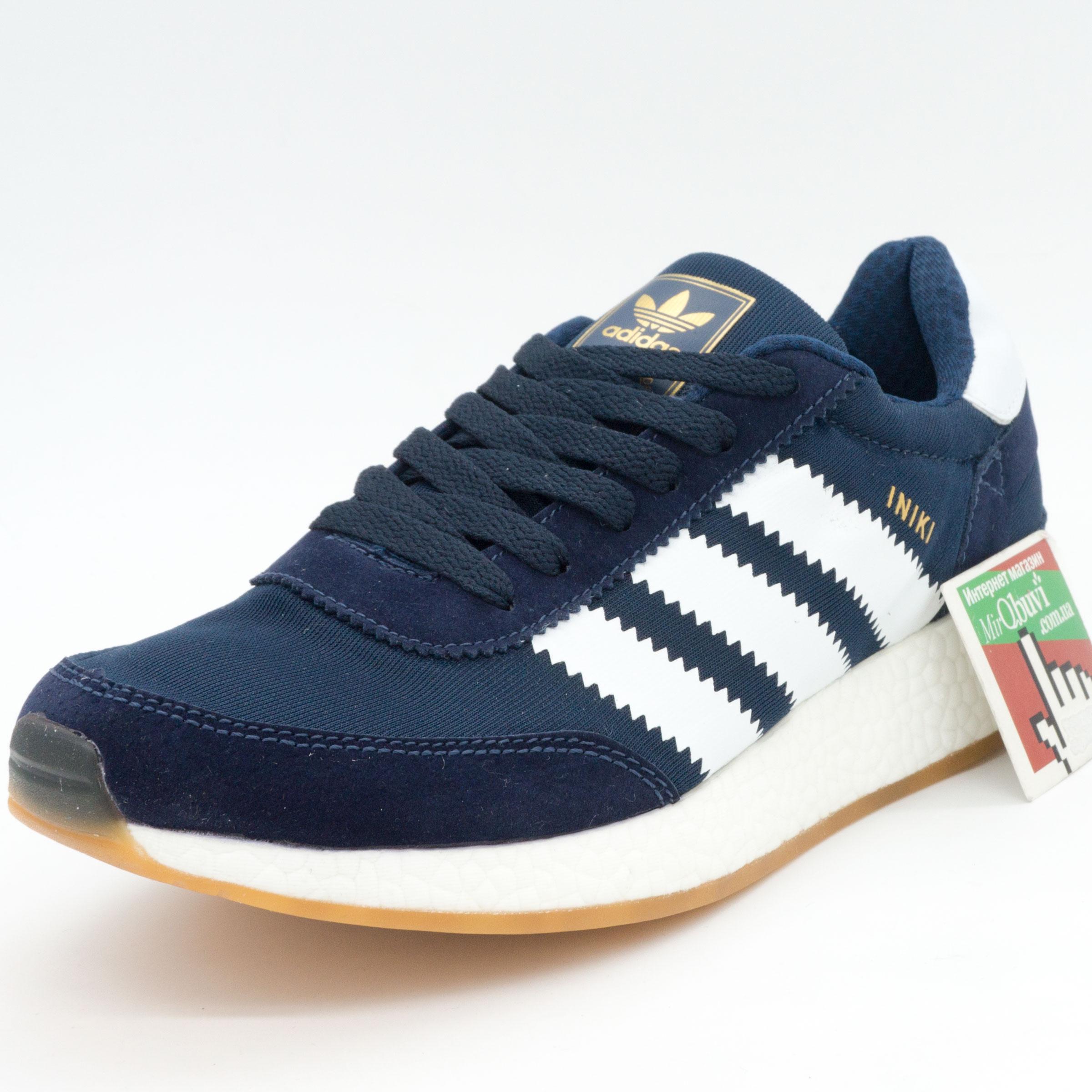 фото front Кроссовки для бега Adidas Iniki Runner синие с белым №2 front