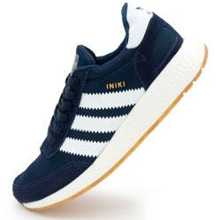 Кроссовки для бега Adidas Iniki Runner синие с белым №2
