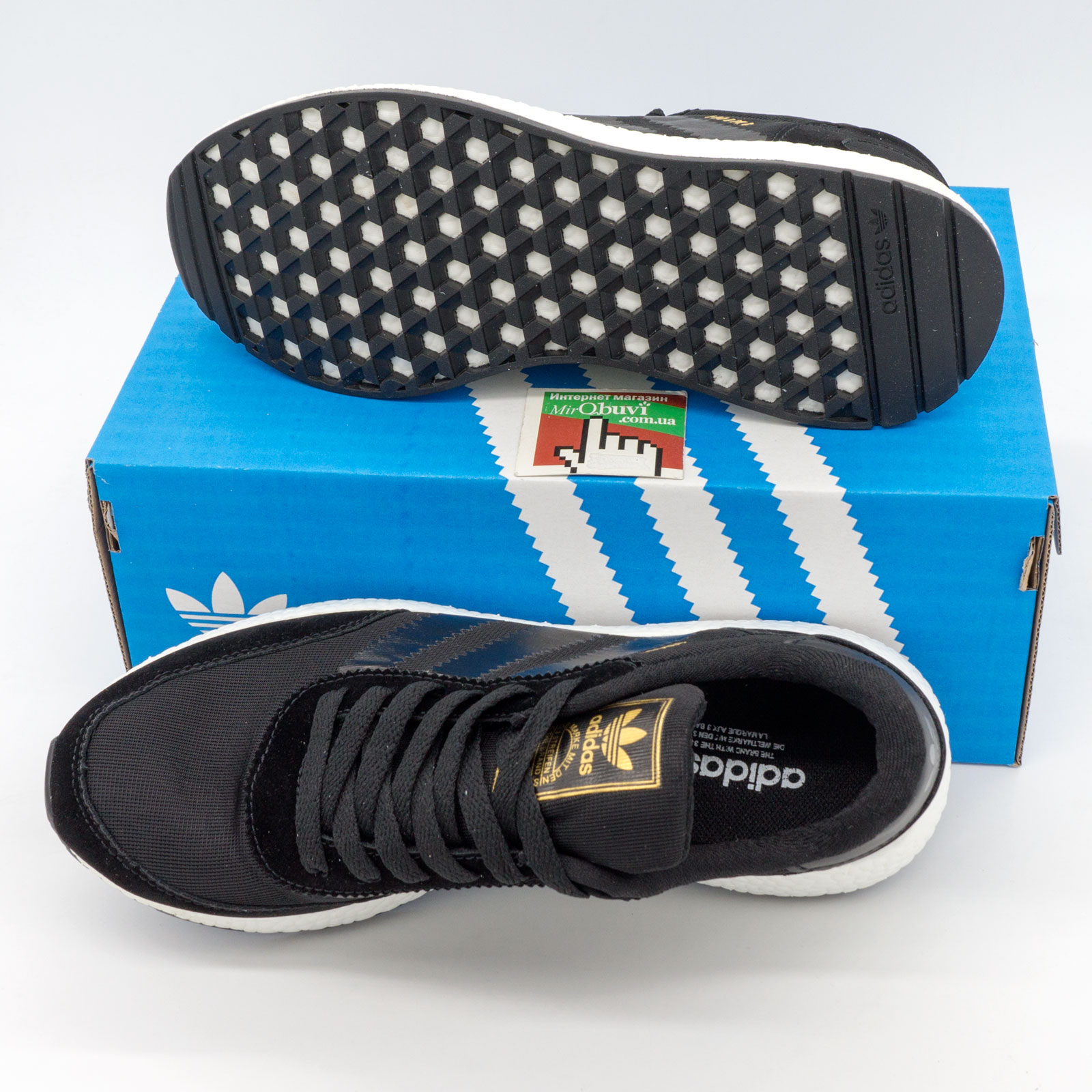 фото bottom Кроссовки для бега Adidas Iniki Runner черные №2 bottom